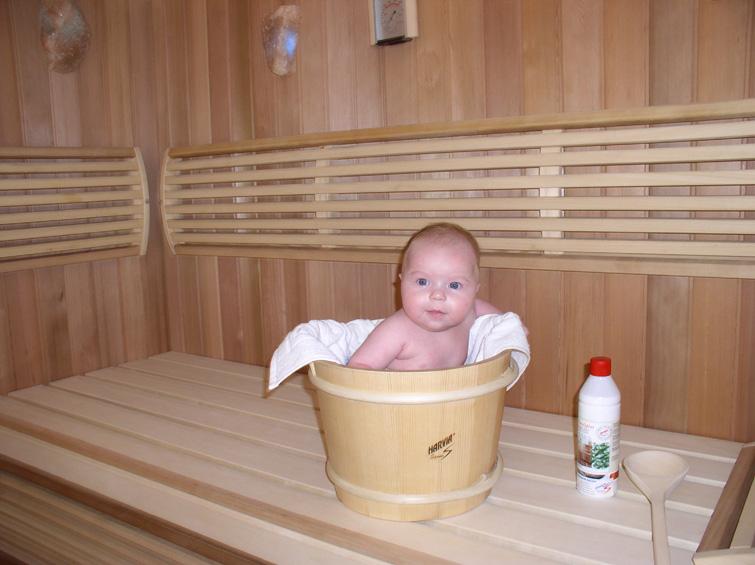 wnuczek w saunie